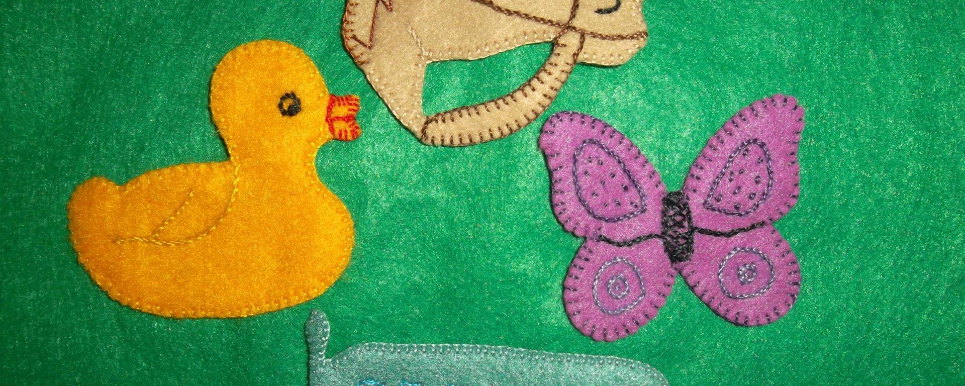 bonecos de feltro para trabalho pedagógico