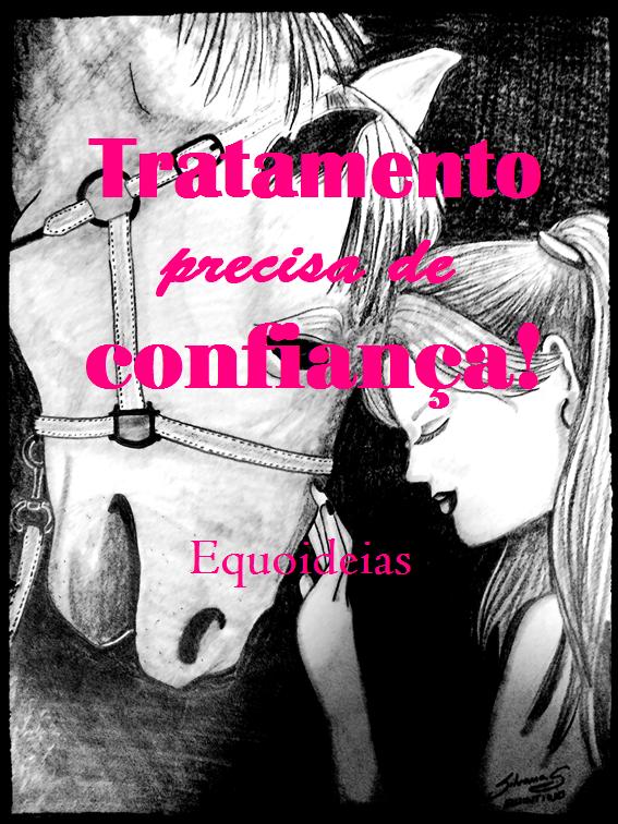 Equoideas desenho e frase sobre tratamento.