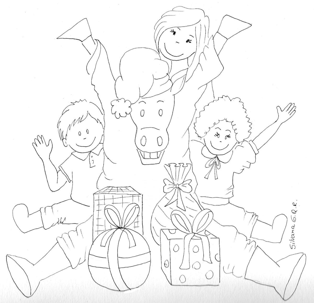 Desenho para colorir de Natal!