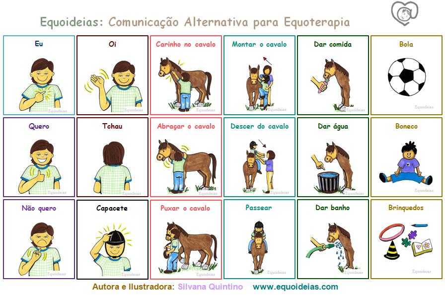 Comunicação alternativa Equoideias para Equoterapia