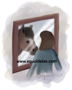 Ilustração do simbolismo do cavalo na psique humana