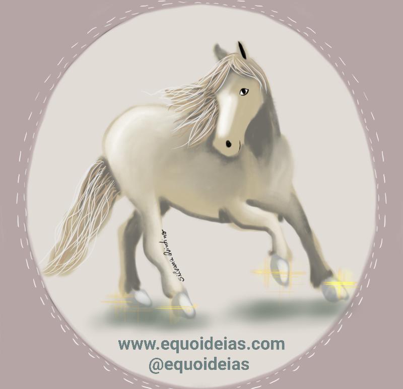 Amplitude e frequência do passo do cavalo.