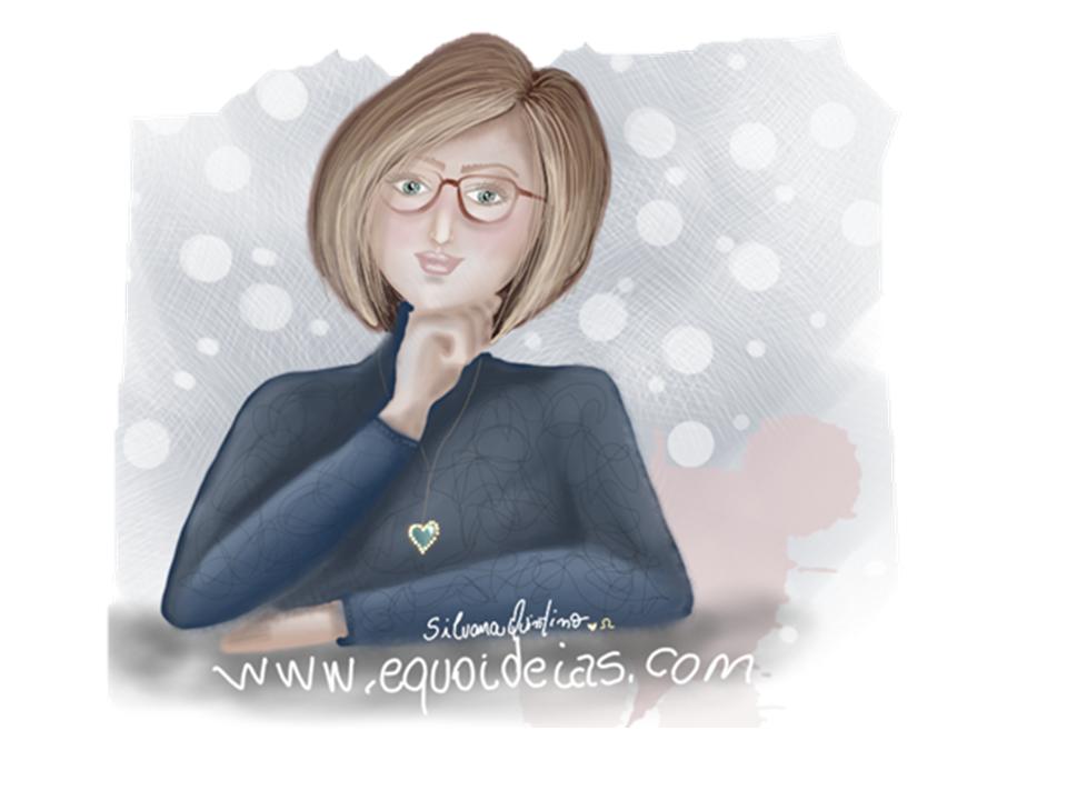 Desenho de uma profissional da Equoterapia.