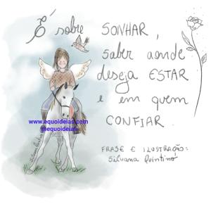Ilustração e frase