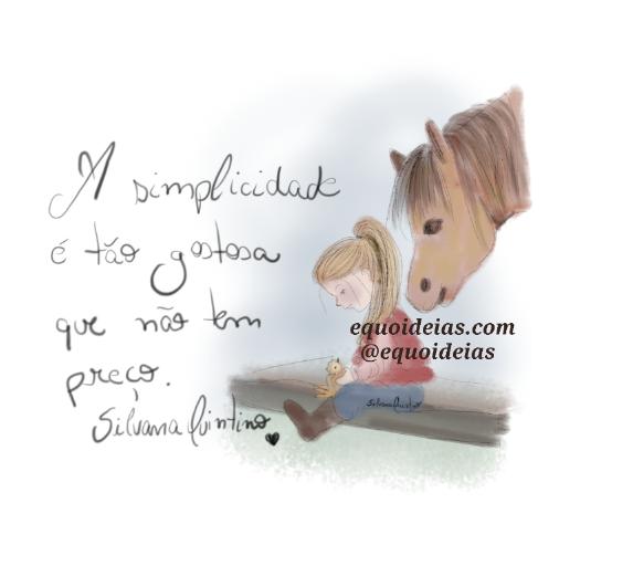 Ilustração cavalo, pássaro e menina.